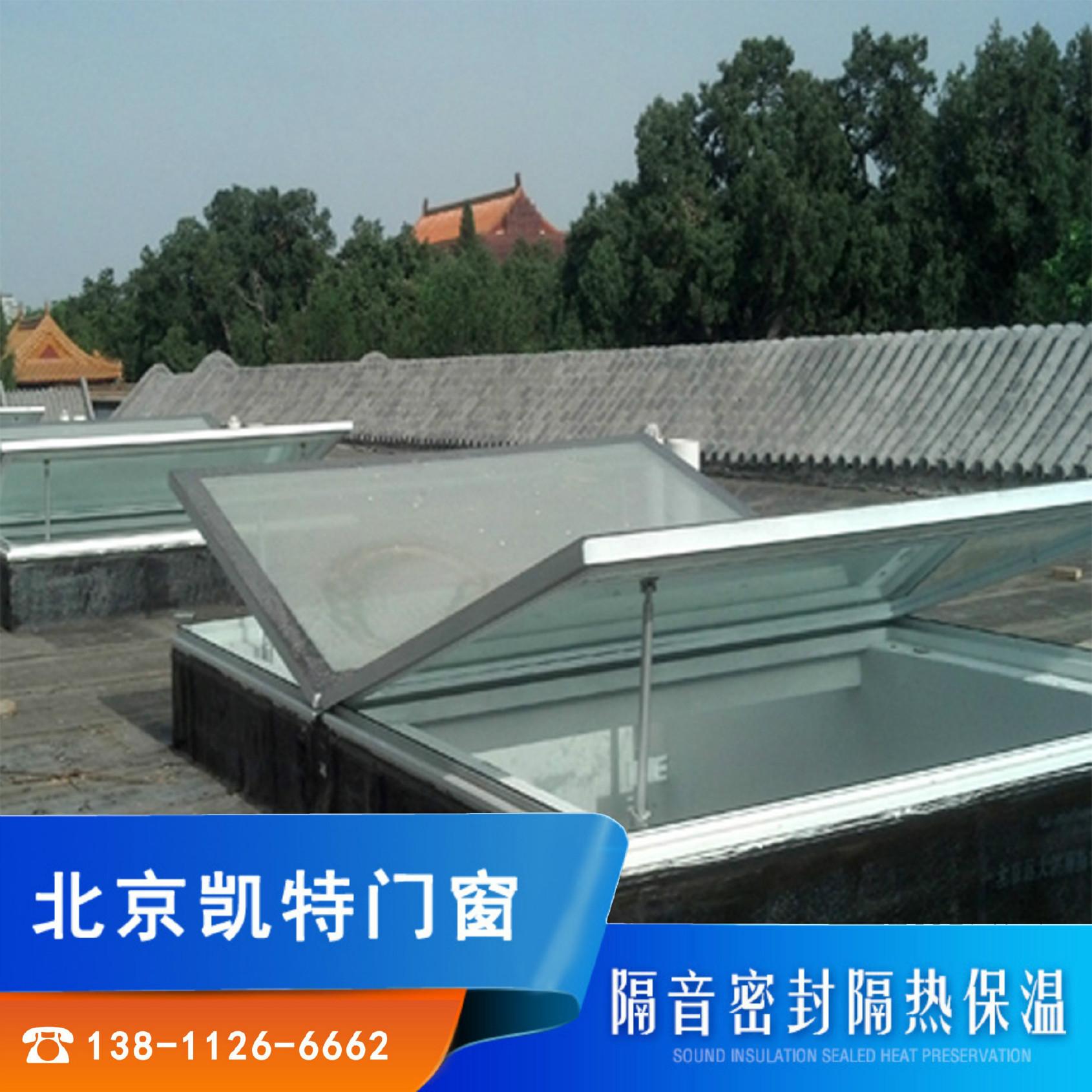 铝合金电动窗户天窗外悬窗 阳光房天窗天顶智能电动天窗窗户安装图片