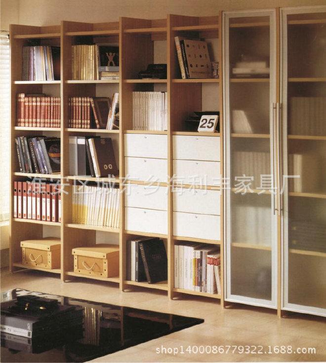 大量出售 实木收纳书柜 自由组合书柜 开放式简易儿童书柜