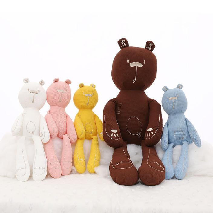 卓妍工厂原创可爱卡通毛绒玩具可啃咬熊公仔宝宝睡觉抱枕创意礼品