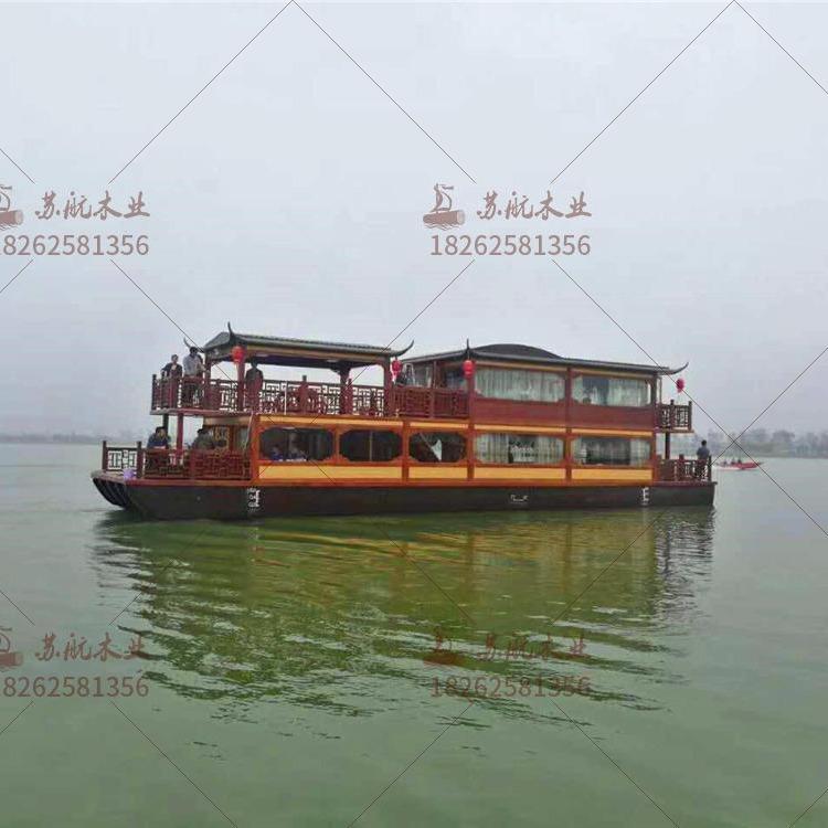 大型觀光船 雙層畫舫船 水上會所船餐廳船