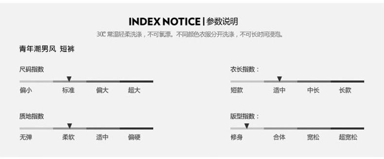 夏季男士短裤 中国风运动速干弹力沙滩裤 透气修身五分裤示例图2