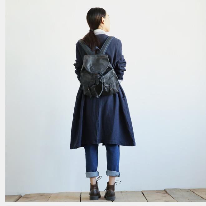 新款江南布衣风格复古怀旧百搭休闲大口袋阔腿裤牛仔裤女1631示例图12