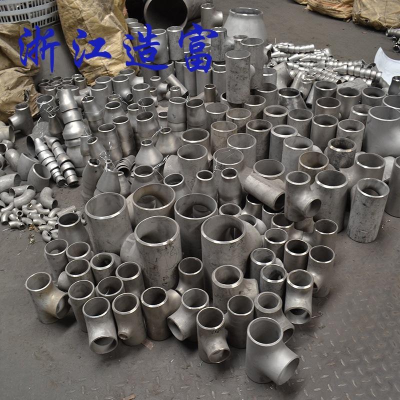 厂家生产 不锈钢三通 焊接三通 卫生级冲压 等径三通 同径三通示例图8
