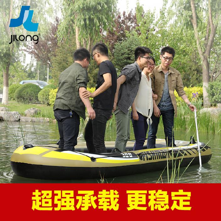 橡皮艇钓鱼充气船冲锋舟双人加厚皮划艇捕鱼船潜水镜会进水图片