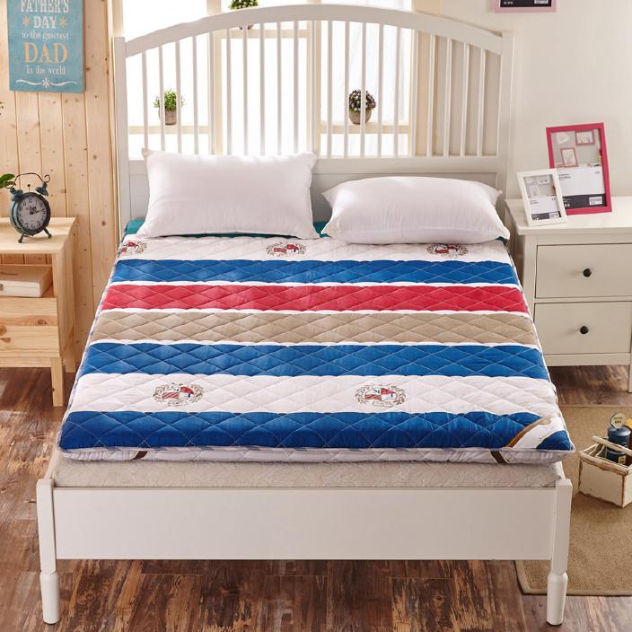 全棉加厚 防滑软床垫 三明治立体床垫被单人双人床褥子床褥