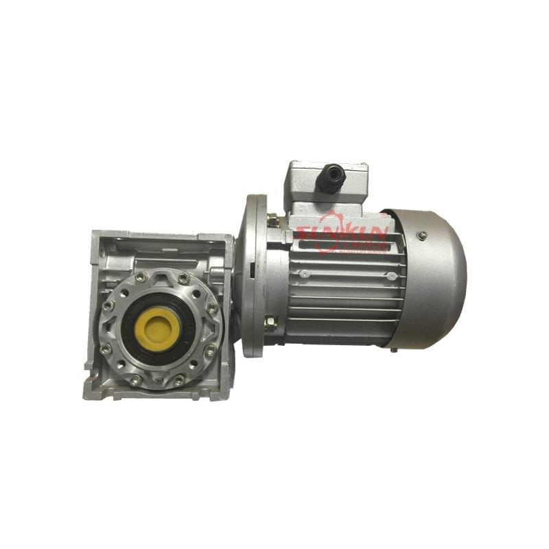 厂家批发 铝合金减速机 NMRV25-150银色配电机0.12-15KW速比5 10 15 20 25 30 40 50