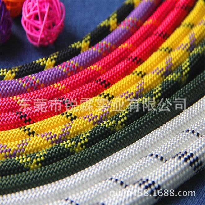 锐霖生产48股箱包编织绳 混色包包手提绳 花色涤纶包芯绳 饰品绳图片