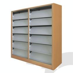 【厂家直销】佛山出口复柱式图书架、报刊架、杂志柜(保修十年)示例图9