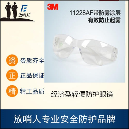 3M 11228 眼部防護 經濟型輕便防護眼鏡    防護眼鏡