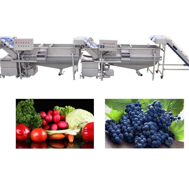 廠家生產果蔬深加工清洗流水線,產量大,果醬類、醬菜類產品原材料的清洗機器,藍莓醬、番茄醬、山野菜、綠色有機蔬菜等