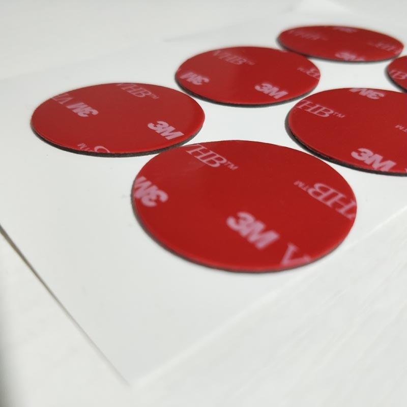 深圳3mvhb透明双面胶 大尺寸冲型 pet来图来样定制 VHB圆形脚垫1mm生产厂家 福永 沙井 东莞