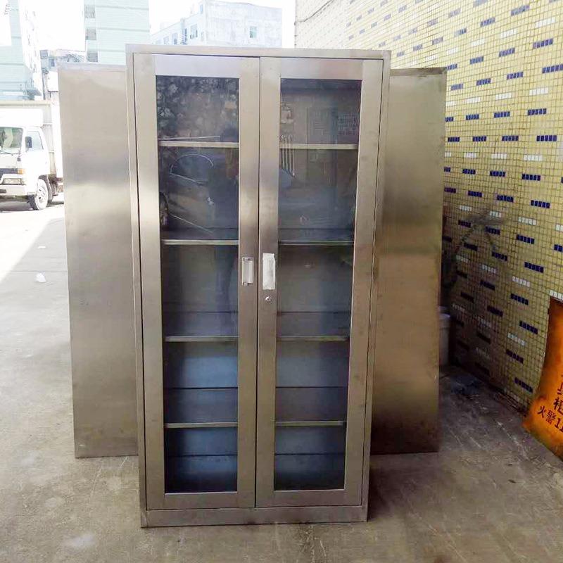 不锈钢办公文件柜子铁皮柜定制 厂家直销办公收纳柜存储资料柜