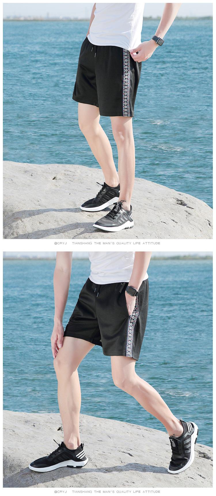男式休闲裤 民族风款男短裤韩版男式 沙滩裤批发运动五分裤子男示例图7