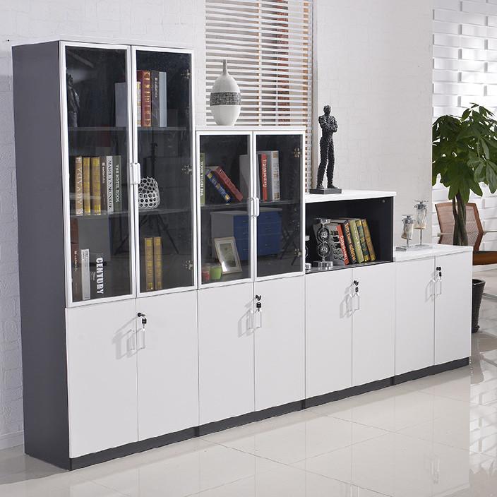 办公家具文件柜木质资料柜档案柜带锁板式矮柜办公室书柜储物柜子