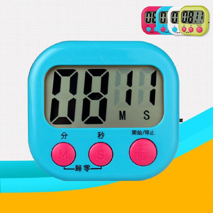 廚房定時器計時器電子正倒計時器秒表 大屏幕可愛鬧鐘計時鐘圖片