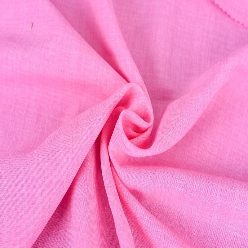 現貨供應時裝面料75D樂麗絲竹節全滌仿棉麻初夏裙子襯衫布料