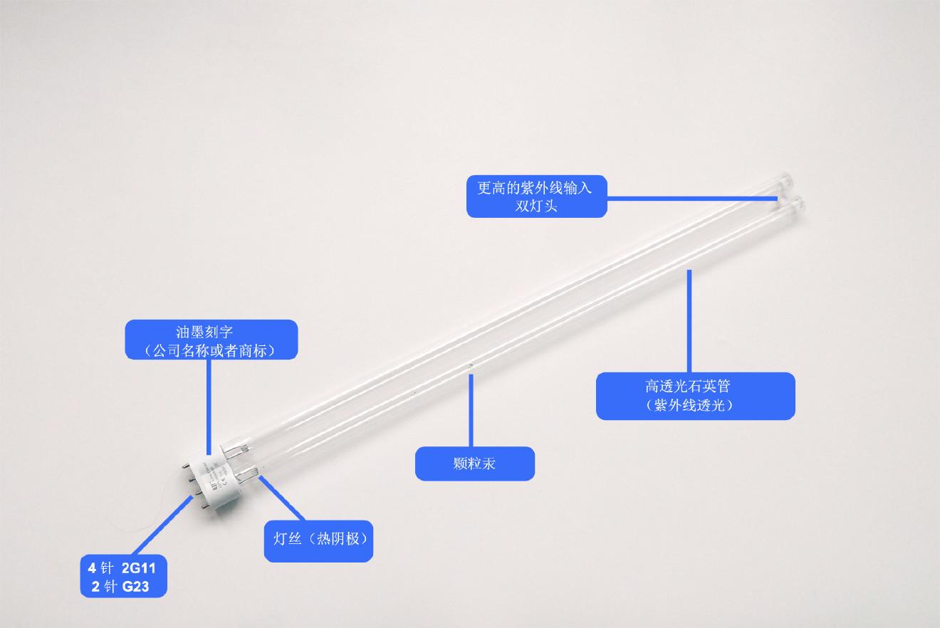 常州光太UVC 254nm led消毒灯紧凑型11W 紫外灯管】价格_批发_