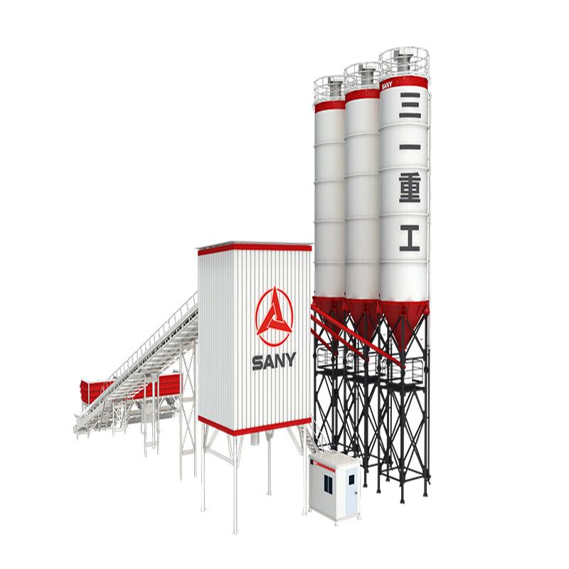 混凝土搅拌站 HZS120F8 斜皮带 三一重工提供混凝土搅拌站价格表