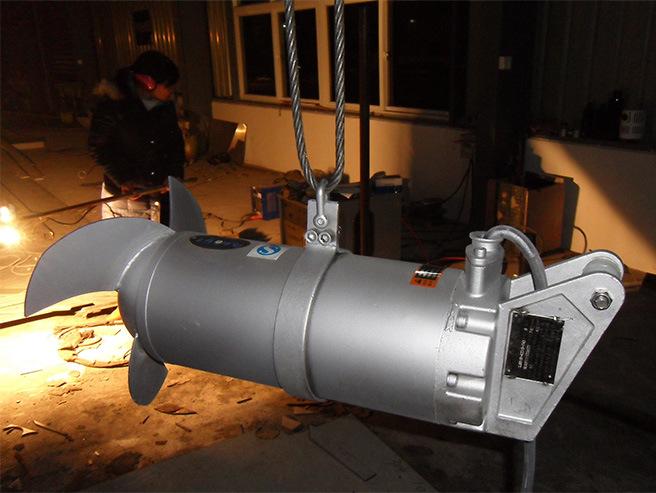 QJB潜水搅拌机 水下低速推流器 混合池工业污水废水处理全不锈钢示例图16