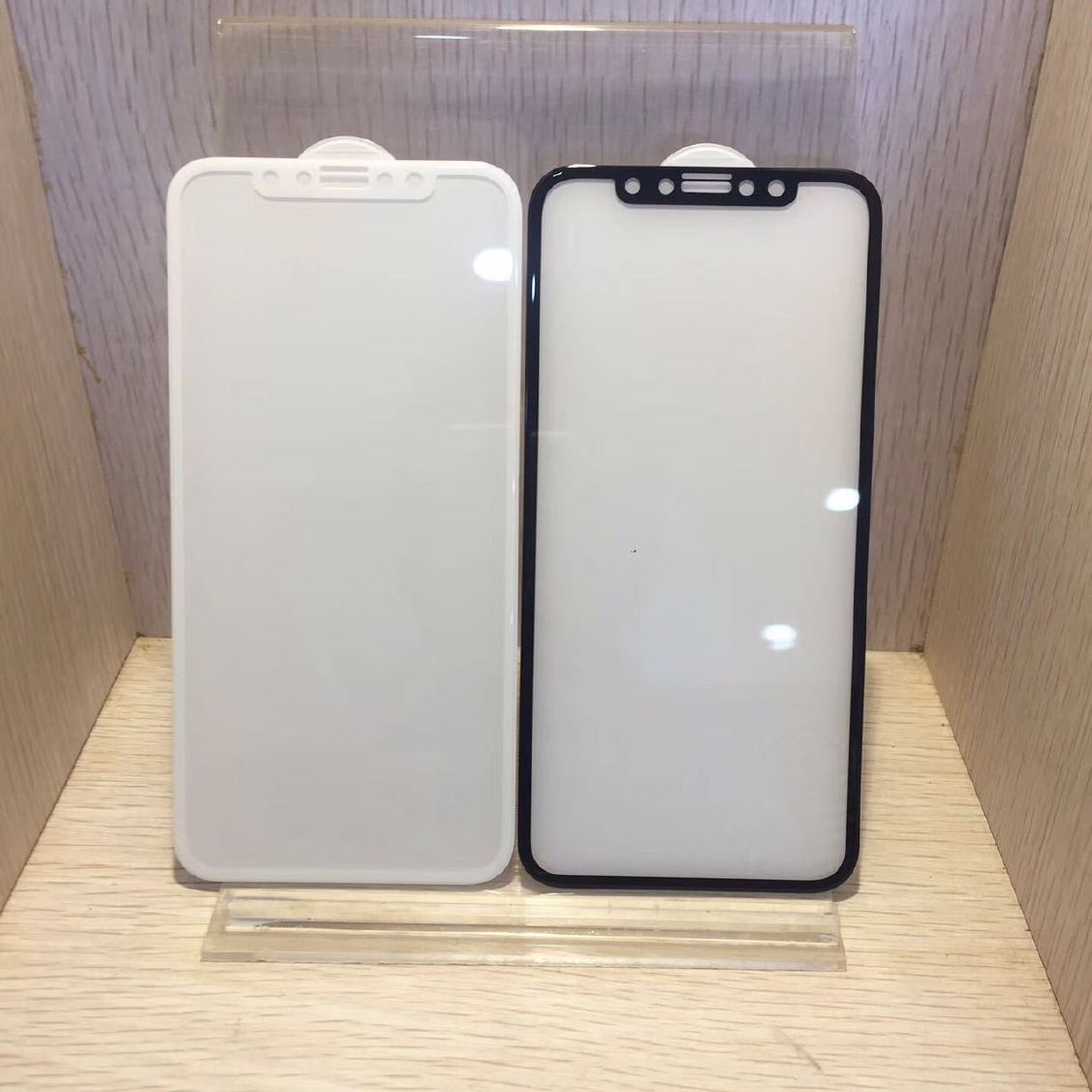 冷雕iphoneX钢化膜视频X苹果全覆盖硬边全玻艺奇曲面色图片