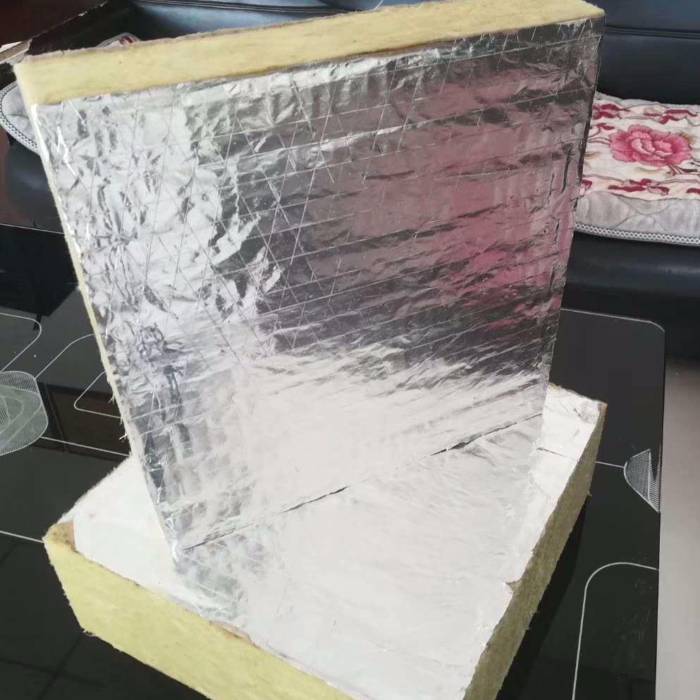 专业生产幕墙岩棉板 生产铝箔贴面岩棉板厂家 供应防火岩棉隔离带 50厚洛克德岩棉厂家