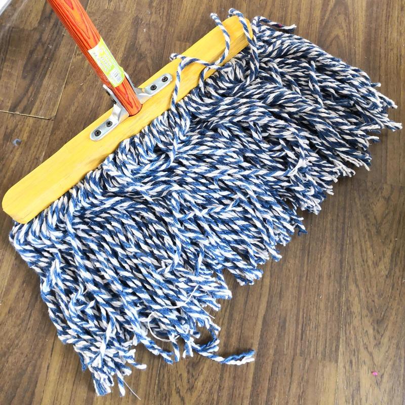 奇正 家用木柄宽头棉线拖把  厨房客厅卫生间拖把