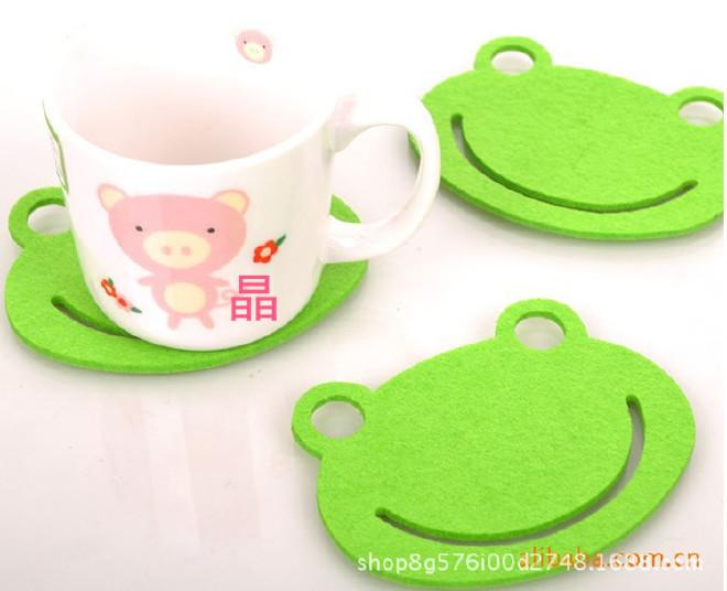 新款毛毡杯垫 创意家居镂空毛毡杯垫餐垫促销礼品杯垫 定制Logo示例图8