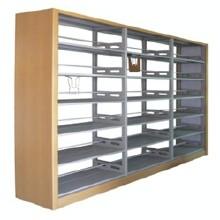 厂家直销佛山出口复柱式图书架、报刊架、杂志柜(保修十年)