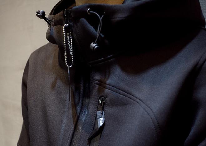男式�l衣潮牌太空棉屠神���D�r�W�q起一�白色光芒�l衣定制�B帽�n版修身�_衫日系男�b棒球服外套示例�D25