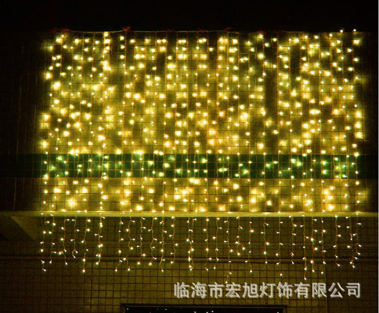 主播房间装饰 圣诞节日网红 LED窗帘灯3*3米304灯 冰条婚庆装饰灯示例图22