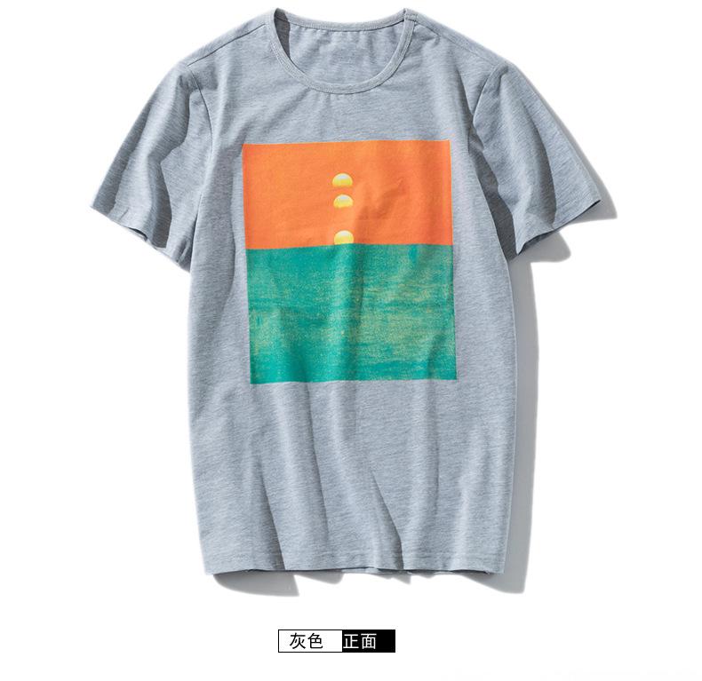 2017新款夏季男z士短袖t恤男式�棉日系�钅醒b�A�I�n版休�e�S家直�N示看著千仞例�D25
