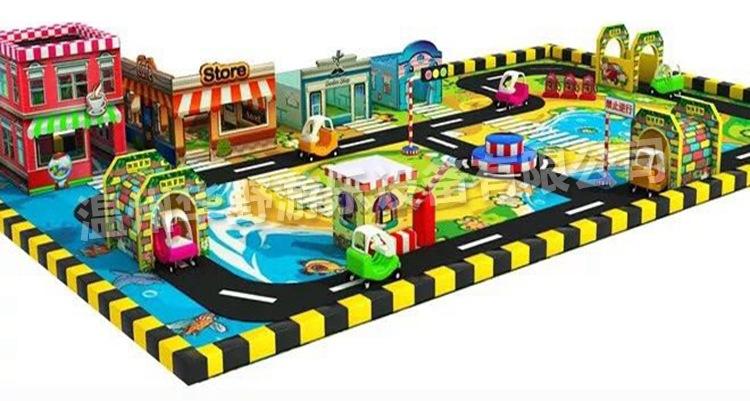 淘气堡儿童乐园 儿童模拟驾校 室内游乐玩具设施 交通小镇项目 室内儿