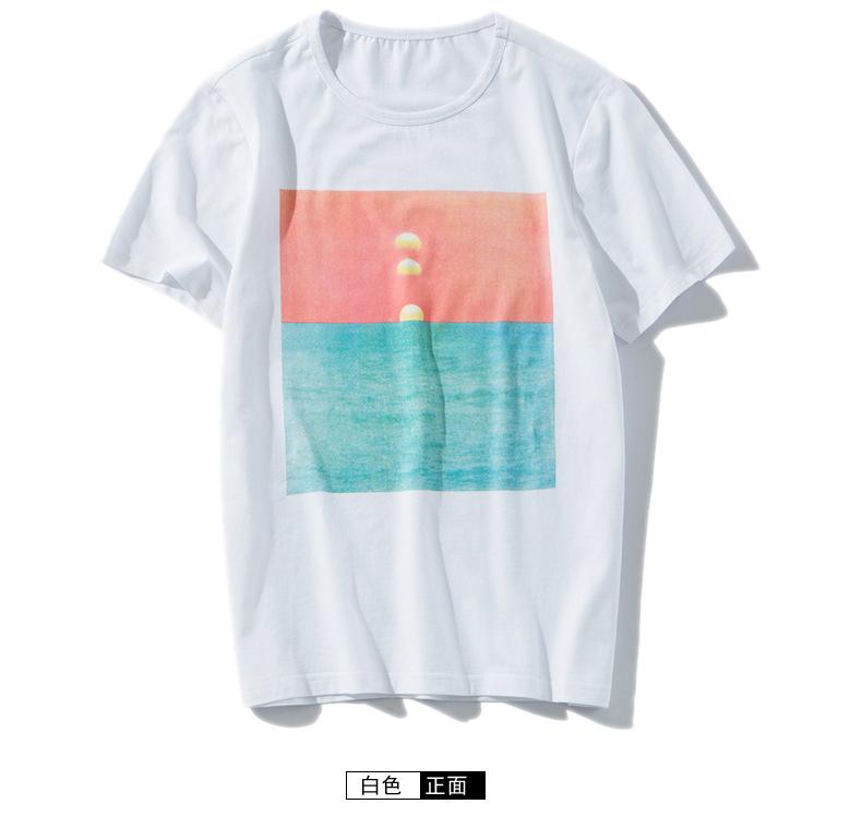 2017新款夏季男士短你也�_��可以算是天才了袖t恤男式�棉日系男�b�A�I�n�}版休�e�S家 嗡直�N示例�D24