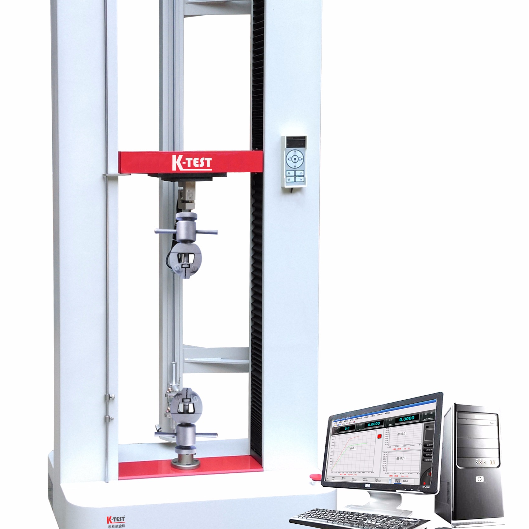 供应电子万能试验机,拉力机,塑料拉伸强度,塑料断裂伸长率测试,PE检测设备,20kn电子万能试验机,塑料管材拉伸性能