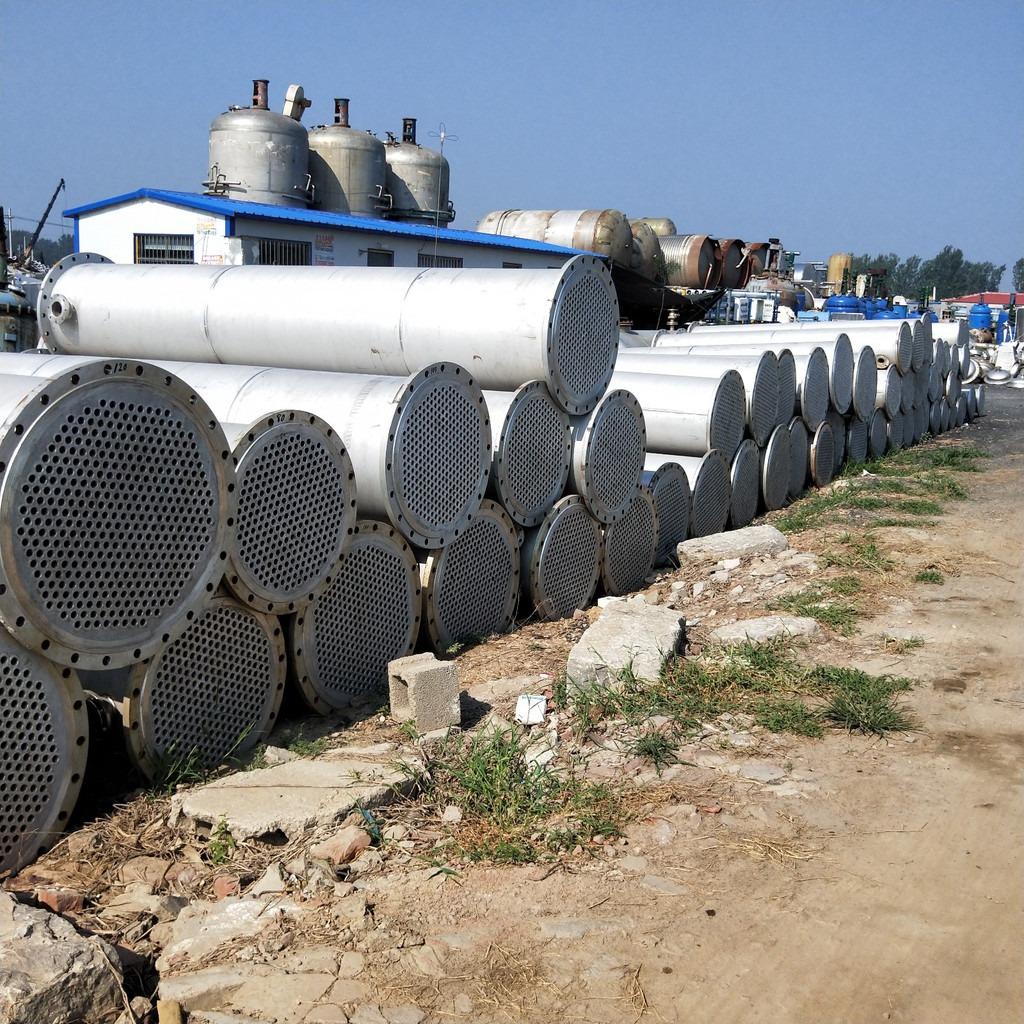 元水 现货出售二手不锈钢列管冷凝器 200平方冷凝器 石墨冷凝器 板式换热器 搪瓷冷凝器 二手不锈钢冷凝器