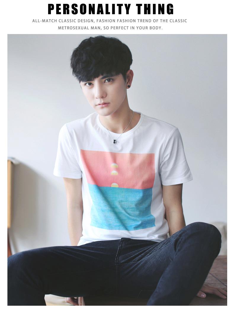 2017新☆款夏季男士短袖t恤男式�¤棉日系男�b�A�I�n版休�e�S家直�N□ 示例�D8