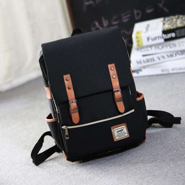 韓版大學高中學生書包 男女英倫學院風雙肩包 簡約電腦包大容量背包