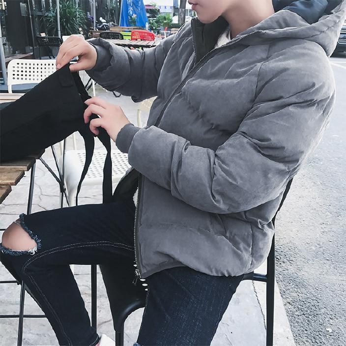 2017冬季新款男士雨绒棉服短款潮流时尚韩版棉衣棉服外套男 潮图片
