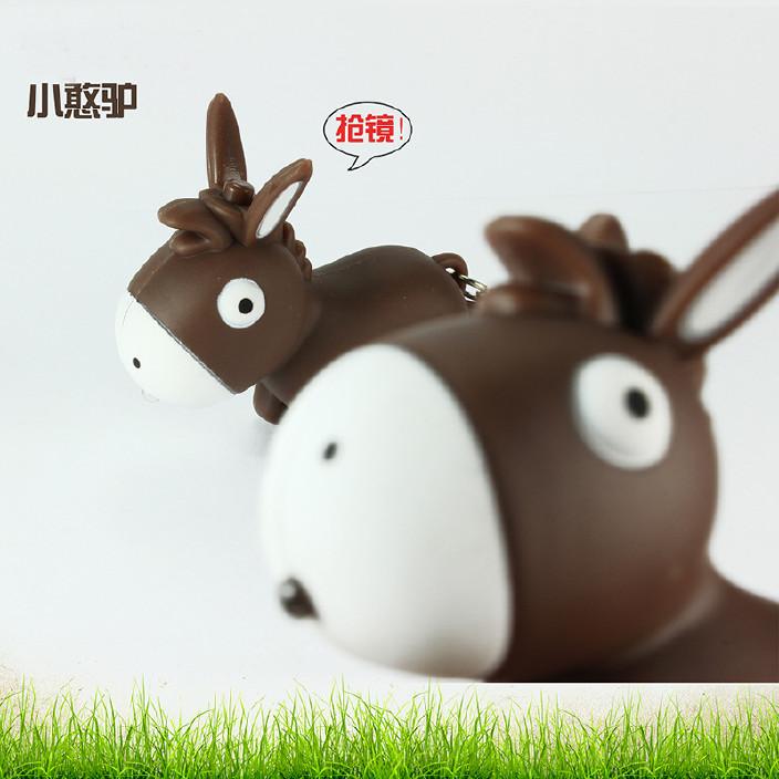 疯狂兔子LED发光发声钥匙扣 滑稽造型卡通电