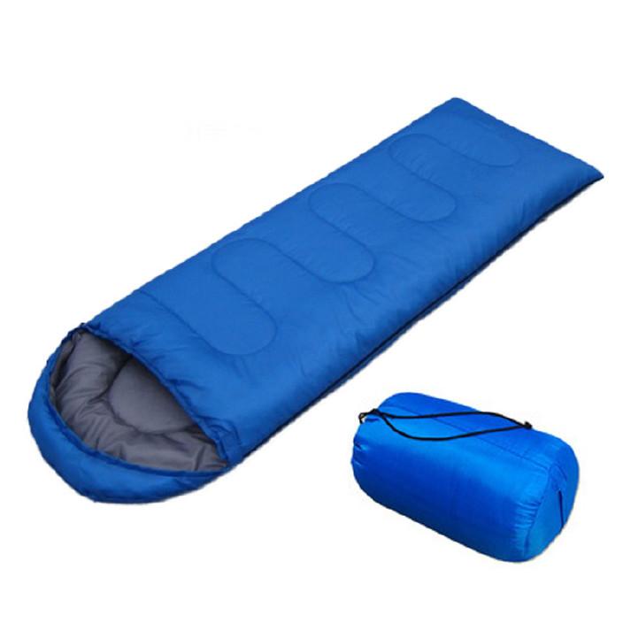 跨境货源 信封带帽睡袋 春夏秋三季睡袋 户外野营成人睡袋一件代