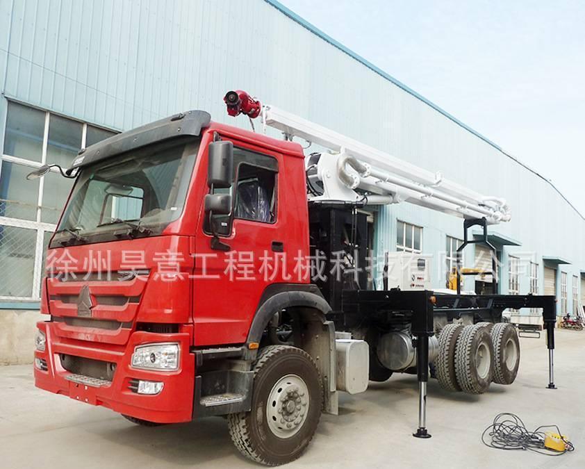 举高喷射消防车  水罐救援车 JP18 18米高喷举升机构上装 定做图片