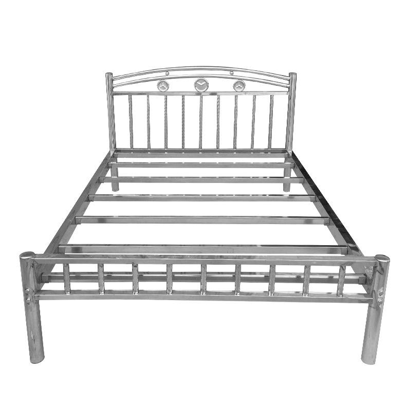 202钢制公寓出租屋床 不锈钢床1.2 1.5 1.8米304不锈钢双人床厂家示例图12