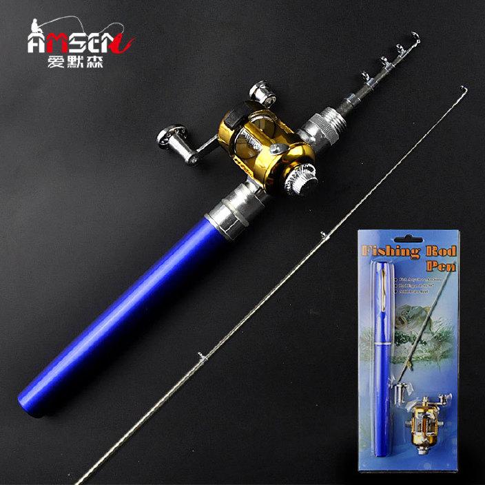 鋼筆式魚竿 迷你魚竿 戶外便攜釣魚竿 袖珍魚竿 垂釣鋼筆式冰釣桿