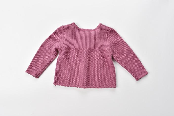 女童儿童毛衣2017新款毛衣婴儿开衫图纸蝴蝶cad会缩小毛衣卡顿放大图片