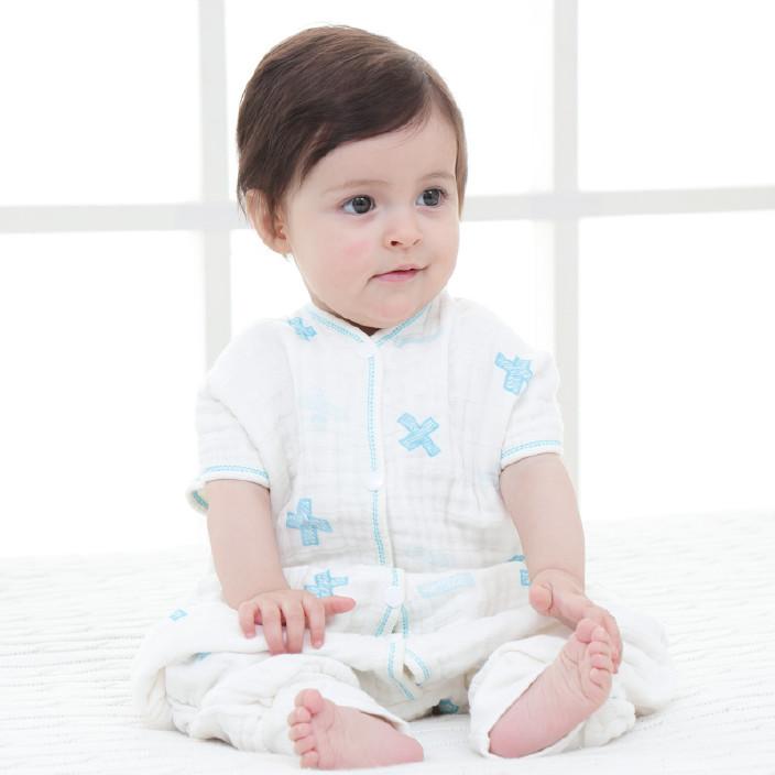 寶寶分腿睡袋 純棉紗布睡袋 防踢被兒童睡袋 muslin棉睡衣