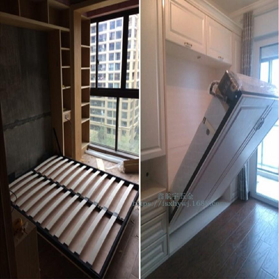 供应隐形床 折叠床壁柜床翻转床床架五金配件 液压杆排骨架