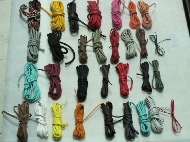 厂家直销32咀密纹全棉环保彩色蜡绳 蜡绳鞋带绳 蜡绳手提绳图片