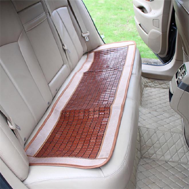 新款竹片汽车坐垫三件套办公室家用小方垫凉垫垫汽车坐垫夏季