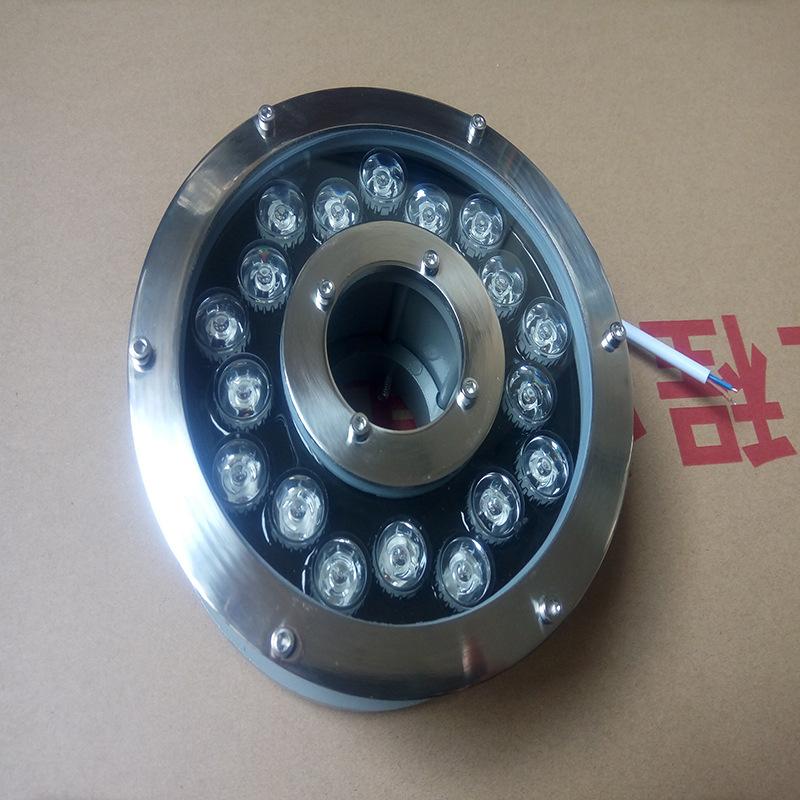 180大七彩喷泉灯 喷泉水下灯 水底灯不锈钢 led水底灯喷泉灯示例图7