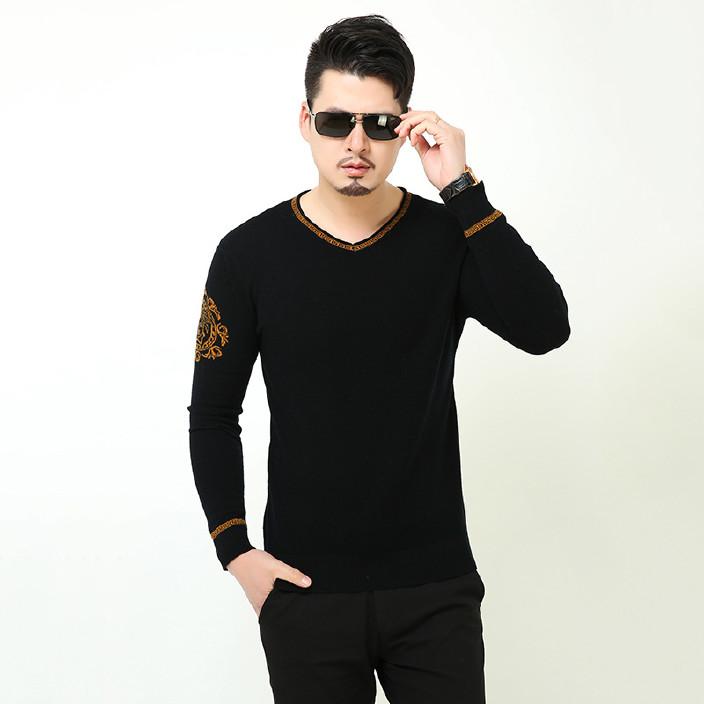 2018秋季新款男士针织衫 圆领套头男式针织衫 长袖针织衫批发